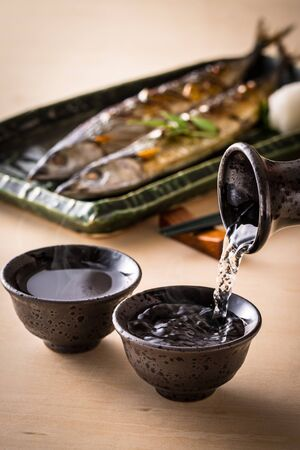 Sake and Autumn Sword Fish
