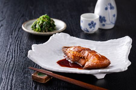 Plaice in soy sauce