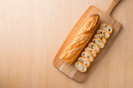 French bread on board