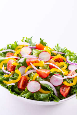 Vegetable salad on the table Imagens