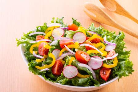 Vegetable salad on the table