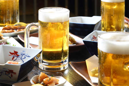 Draft beer and cuisine from Japanese taverns