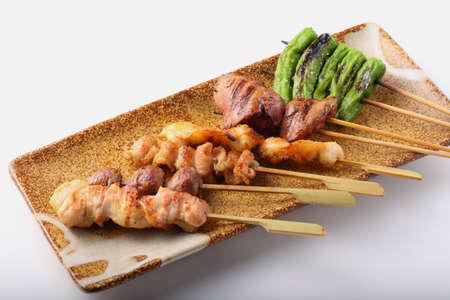 Assorted yakitori in Japanese taverns 版權商用圖片