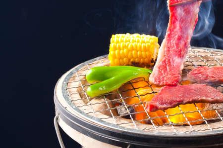 grill meat at a yakiniku restaurant