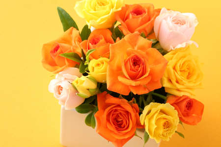 The gift of a bouquet of roses