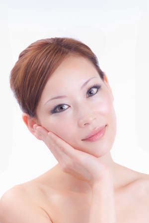 The woman who receives the esthetic treatment
