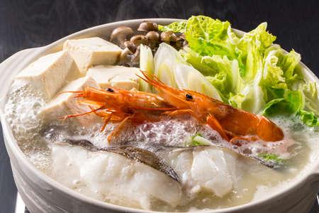 Japanese seafood pot 写真素材