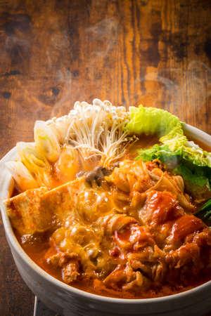 Japanese kimchi hot pot 写真素材