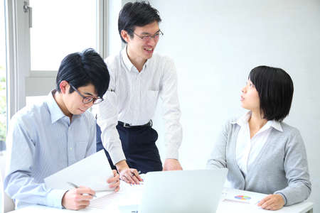 Employees who hold planning meetings at the company