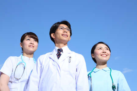 Young Japanese Doctors and Female Nurses