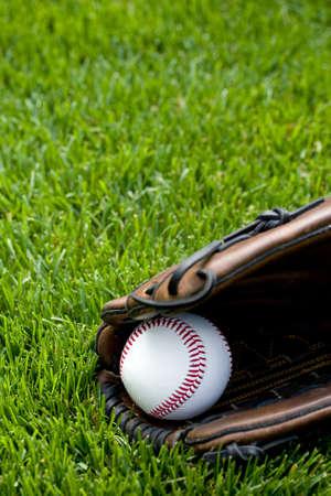 hintergr�nde: Baseball auf dem Feld Lizenzfreie Bilder