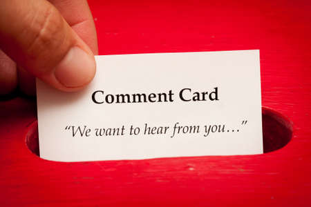comments: Comment card