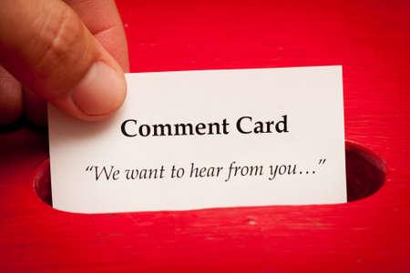 vorschlag: Geben Sie Ihre Meinung Karte Lizenzfreie Bilder