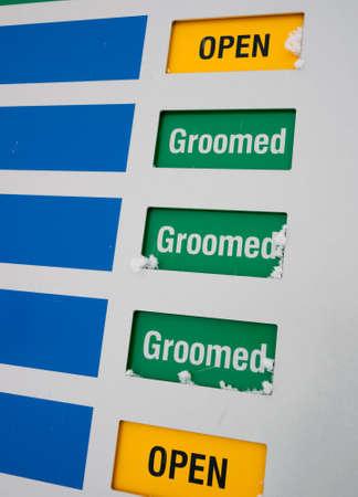 Morning ski run grooming status