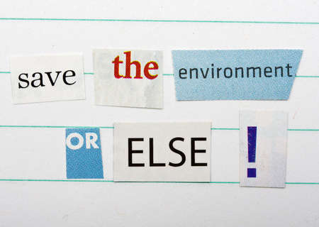 Save the environment ransom note