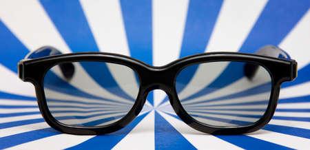 3D-Brille auf abstrakten Hintergrund