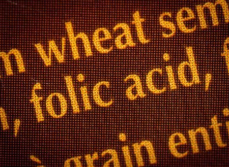 Closeup of folic acid label Stock Photo - 10654660