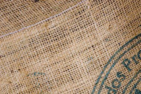 黄麻布コーヒー豆の袋