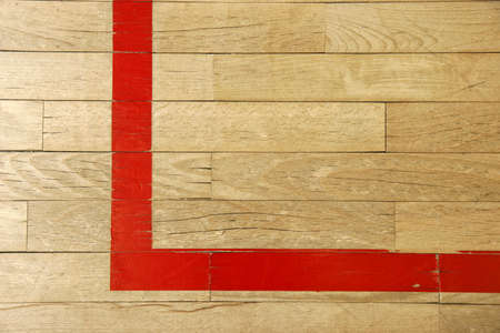 perpendicular: Squash court wood floor Stock Photo