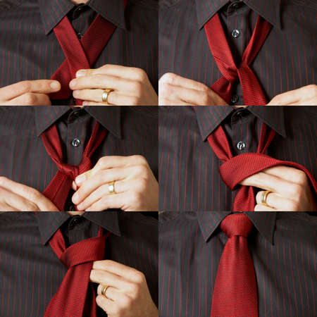 Tie tying sequence