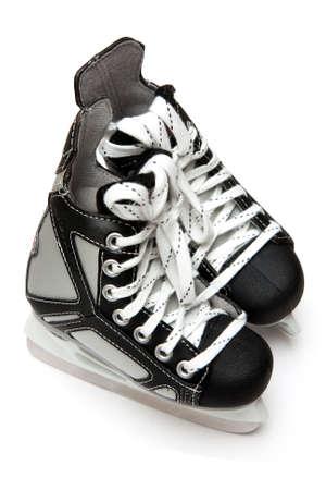 patinar: Patines de hockey sobre hielo Foto de archivo