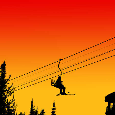 chairlift: Ski lift Stock Photo