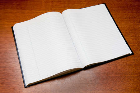 notebook: Open notebook on table