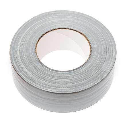 Roll of duct tape on white background photo