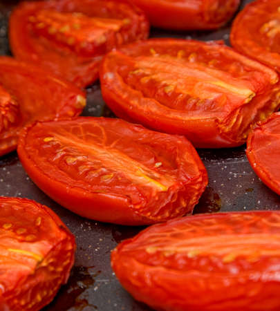 baked: Baked tomatoes Stock Photo