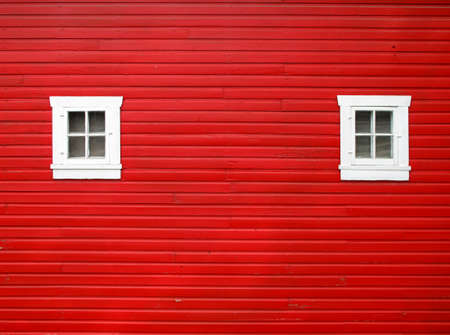 painted lines: Red barn