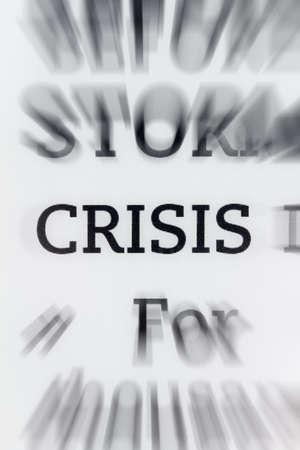 Crisis word on e book reader photo