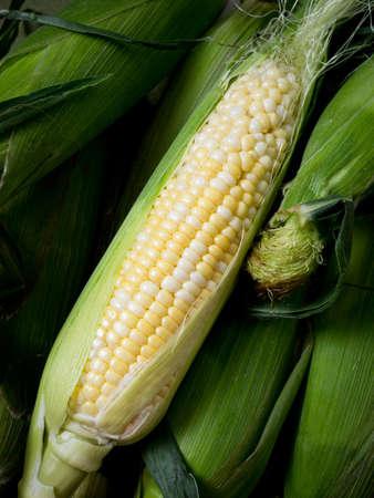 shucked: Cob of corn Stock Photo