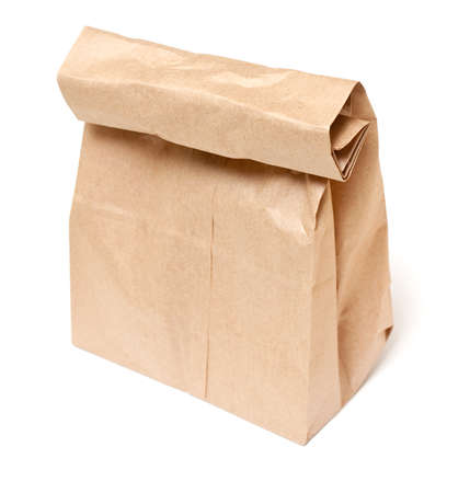 Brown paper lunch bag photo