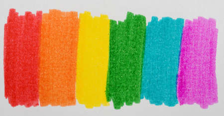 Rainbow made with felt colors Stock Photo - 10658210