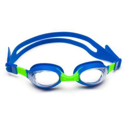 swim goggles: Gafas de nataci�n en el fondo blanco
