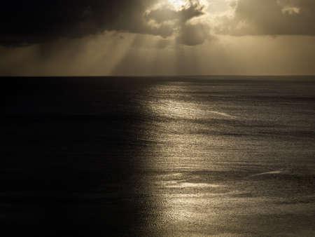 Breaking storm over ocean