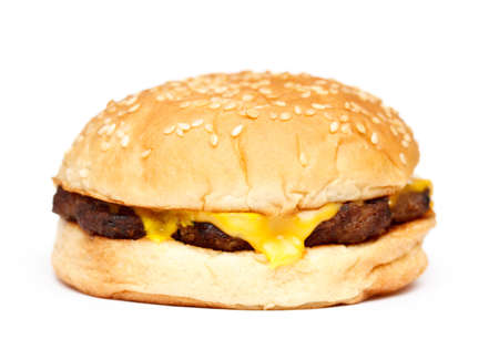 Cheeseburger on white background Stock Photo - 10709492