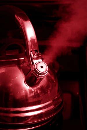 boiling: Hot boiling kettle