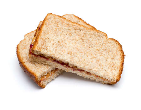 jam sandwich: Peanut butter and jam sandwich