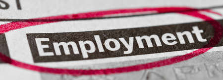 Employment banner Stock Photo