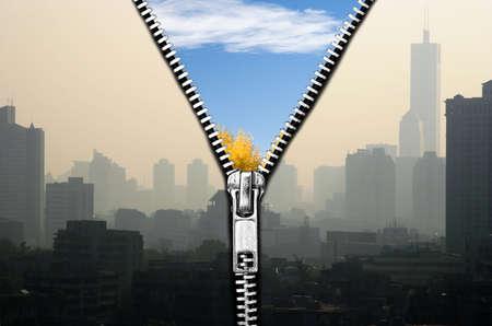 Poprawy jakoÅ›ci powietrza Zdjęcie Seryjne