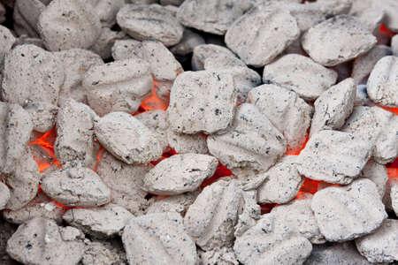 coals: Charcoal briquettes