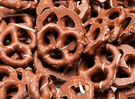 Chocolate pretzels photo