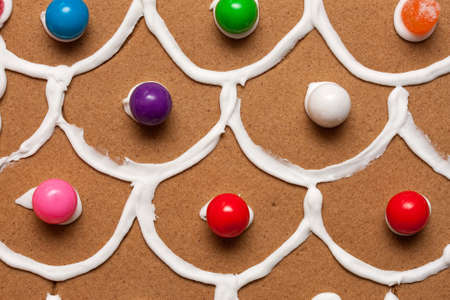 Gingerbread house background Stock Photo - 10750593