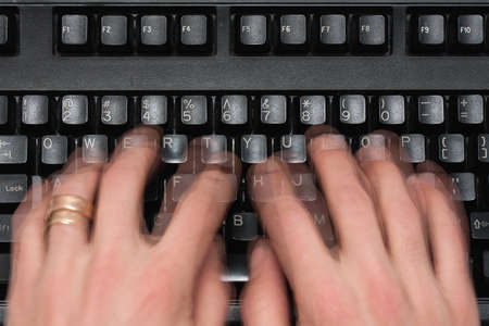 Fast typing Stock Photo - 10784030