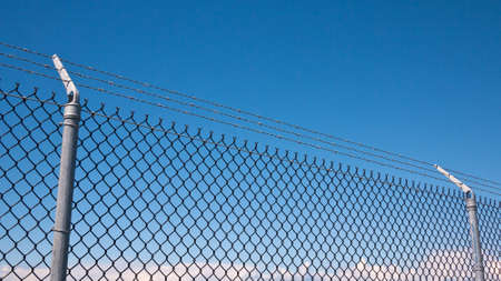 wire fence: Chain link fence