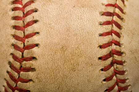 red leather texture: Baseball background Stock Photo