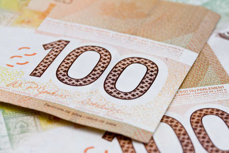 canadian cash: Canadian money Stock Photo