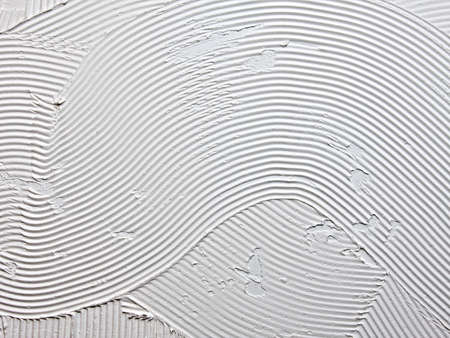 grooves: Tile adhesive