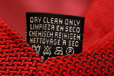 Dry clean care instructions